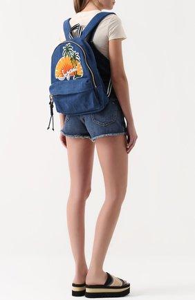 Рюкзак из денима с аппликацией   Фото №2