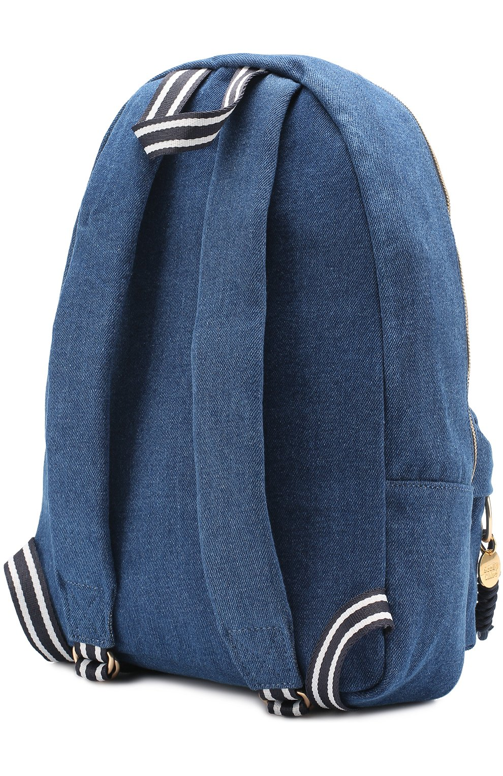 Рюкзак из денима с аппликацией   Фото №3