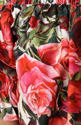 Топ с открытыми плечами и цветочным принтом Dolce & Gabbana розовый   Фото №5