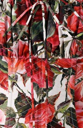 Корсет с цветочным принтом и контратсной шнуровкой   Фото №5