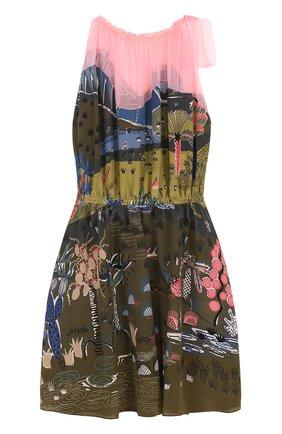 Шелковое мини-платье с принтом | Фото №1