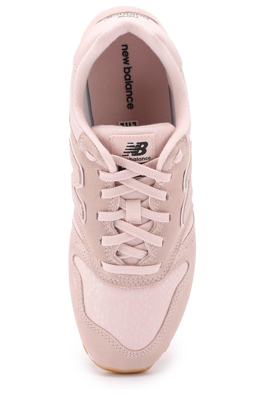 dddafebe Замшевые кроссовки 373 с текстильной вставкой New Balance розовые | Фото №4
