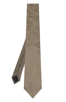 Мужской шелковый галстук с узором TOM FORD бежевого цвета, арт. 9TF261TF | Фото 2