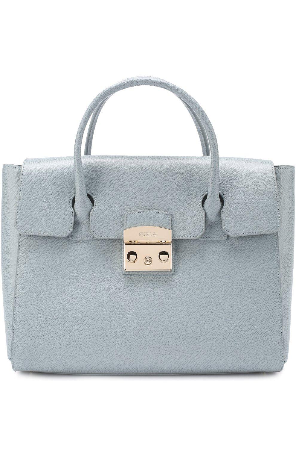 dcfd04fe2ec6 Женская сумка-тоут metropolis FURLA голубая цвета — купить за 33500 ...