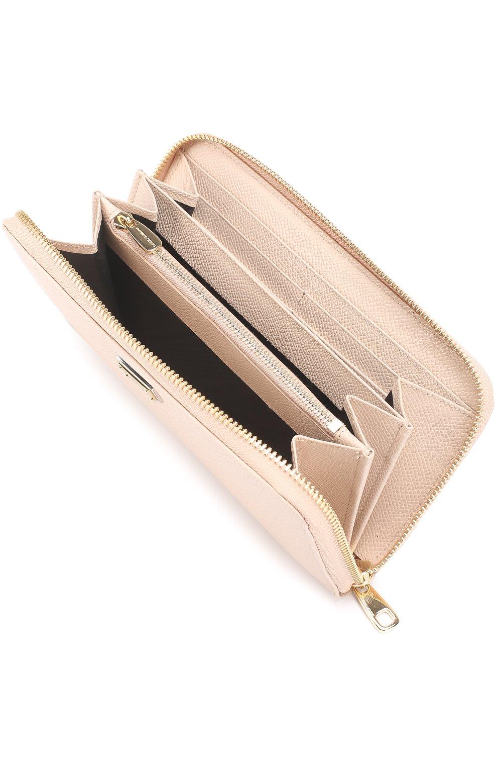 Кожаное портмоне с тиснением Dauphine | Фото №3