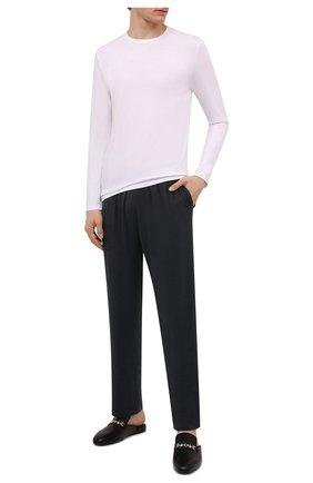 Мужские домашние брюки DEREK ROSE темно-серого цвета, арт. 3558-MARL001 | Фото 2