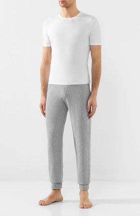 Мужская хлопковая футболка с круглым вырезом DIRK BIKKEMBERGS белого цвета, арт. B41302T44 | Фото 2