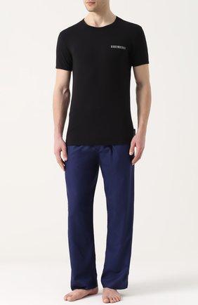 Мужские комплект из двух хлопковых футболок с круглым вырезом DIRK BIKKEMBERGS черного цвета, арт. B41308T48 | Фото 2