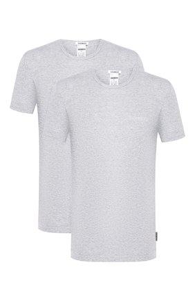 Мужские комплект из двух хлопковых футболок с круглым вырезом DIRK BIKKEMBERGS серого цвета, арт. B41308T48 | Фото 1