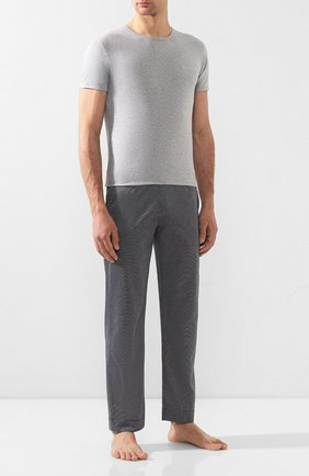 Мужские комплект из двух хлопковых футболок с круглым вырезом DIRK BIKKEMBERGS серого цвета, арт. B41308T48 | Фото 2