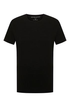 Мужские футболка DEREK ROSE черного цвета, арт. 3048-BASE001 | Фото 1