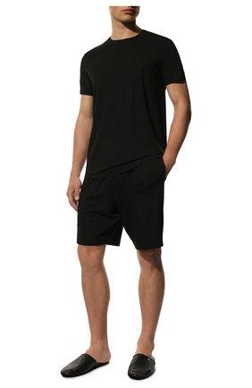 Мужские футболка DEREK ROSE черного цвета, арт. 3048-BASE001 | Фото 2
