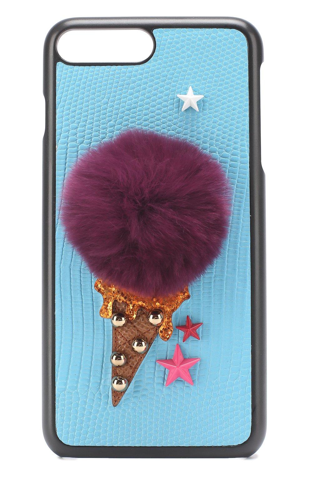 Кожаный чехол для iPhone 7 Plus с аппликацией   Фото №1