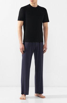 Мужские домашние брюки DEREK ROSE темно-синего цвета, арт. 3558-MARL001   Фото 2