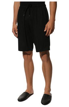 Мужские домашние шорты DEREK ROSE черного цвета, арт. 3559-BASE001 | Фото 3 (Кросс-КТ: домашняя одежда; Материал внешний: Синтетический материал; Статус проверки: Проверена категория)
