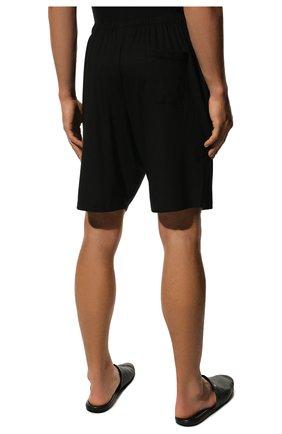 Мужские домашние шорты DEREK ROSE черного цвета, арт. 3559-BASE001 | Фото 4 (Кросс-КТ: домашняя одежда; Материал внешний: Синтетический материал; Статус проверки: Проверена категория)