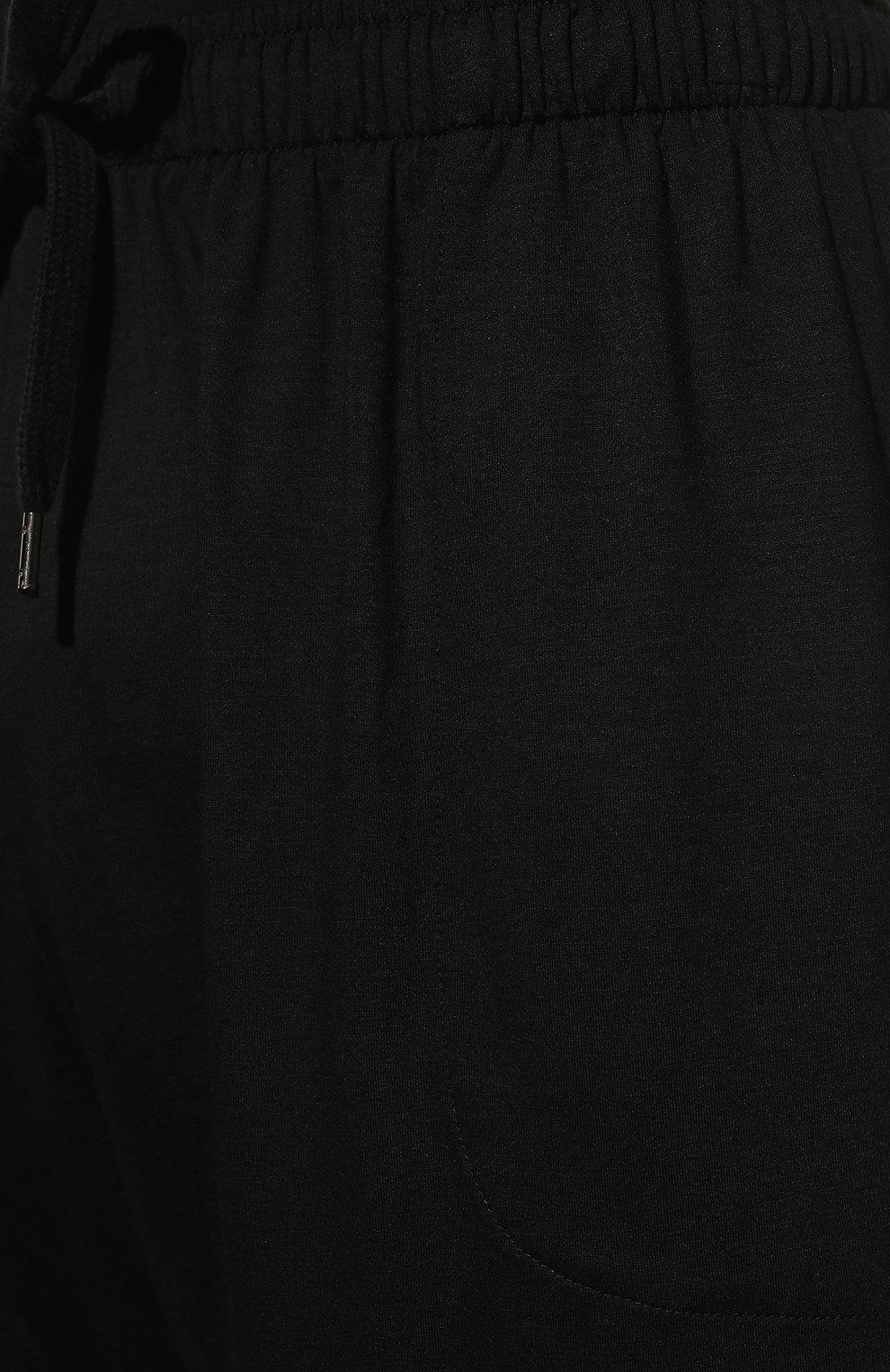 Мужские домашние шорты DEREK ROSE черного цвета, арт. 3559-BASE001 | Фото 5 (Кросс-КТ: домашняя одежда; Материал внешний: Синтетический материал; Статус проверки: Проверена категория)