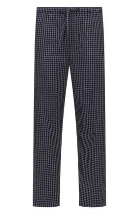 Мужские хлопковые домашние брюки DEREK ROSE темно-синего цвета, арт. 3564-BRAE032 | Фото 1