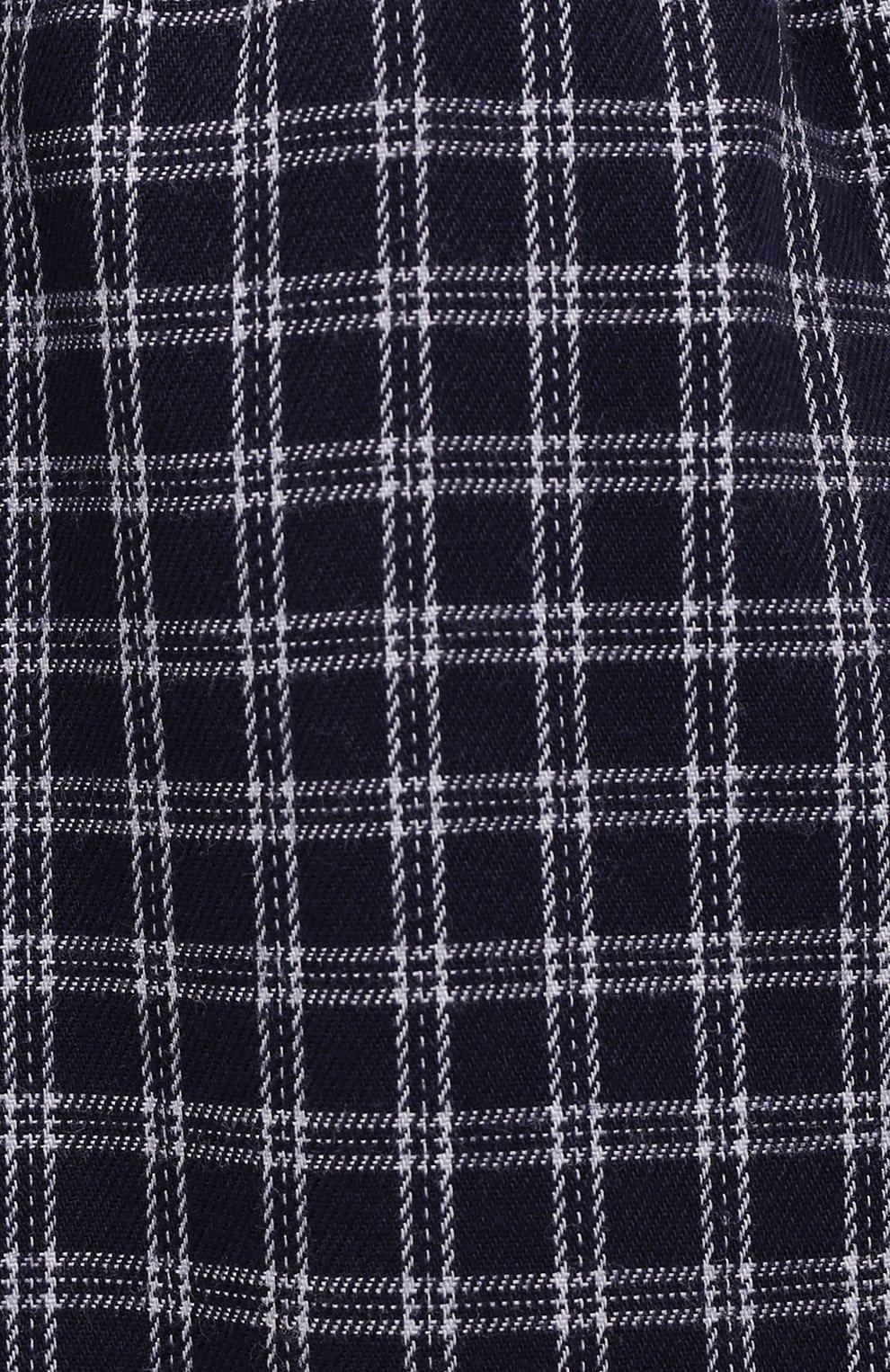 Мужские хлопковые домашние брюки DEREK ROSE темно-синего цвета, арт. 3564-BRAE032 | Фото 5 (Длина (брюки, джинсы): Стандартные; Кросс-КТ: домашняя одежда; Мужское Кросс-КТ: Брюки-белье; Материал внешний: Хлопок; Статус проверки: Проверена категория)