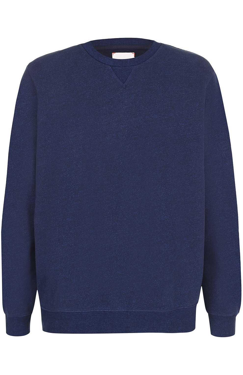 Мужской хлопковый свитшот свободного кроя DEREK ROSE темно-синего цвета, арт. 9000-DEV0001 | Фото 1 (Рукава: Длинные; Принт: Без принта; Длина (для топов): Стандартные; Мужское Кросс-КТ: свитшот-одежда; Материал внешний: Хлопок)