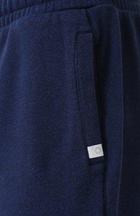 Мужские хлопковые джоггеры DEREK ROSE темно-синего цвета, арт. 9250-DEV0001 | Фото 5 (Мужское Кросс-КТ: Брюки-трикотаж; Длина (брюки, джинсы): Стандартные; Материал внешний: Хлопок; Силуэт М (брюки): Джоггеры)