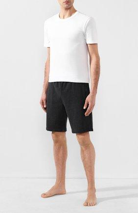 Мужские хлопковые шорты DEREK ROSE серого цвета, арт. 9300-DEV0001 | Фото 2