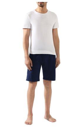 Мужские хлопковые шорты DEREK ROSE темно-синего цвета, арт. 9300-DEV0001 | Фото 2