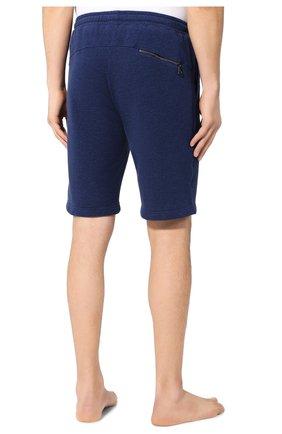 Мужские хлопковые шорты DEREK ROSE темно-синего цвета, арт. 9300-DEV0001   Фото 4 (Длина Шорты М: До колена; Принт: Без принта; Кросс-КТ: Трикотаж; Материал внешний: Хлопок; Стили: Спорт-шик)