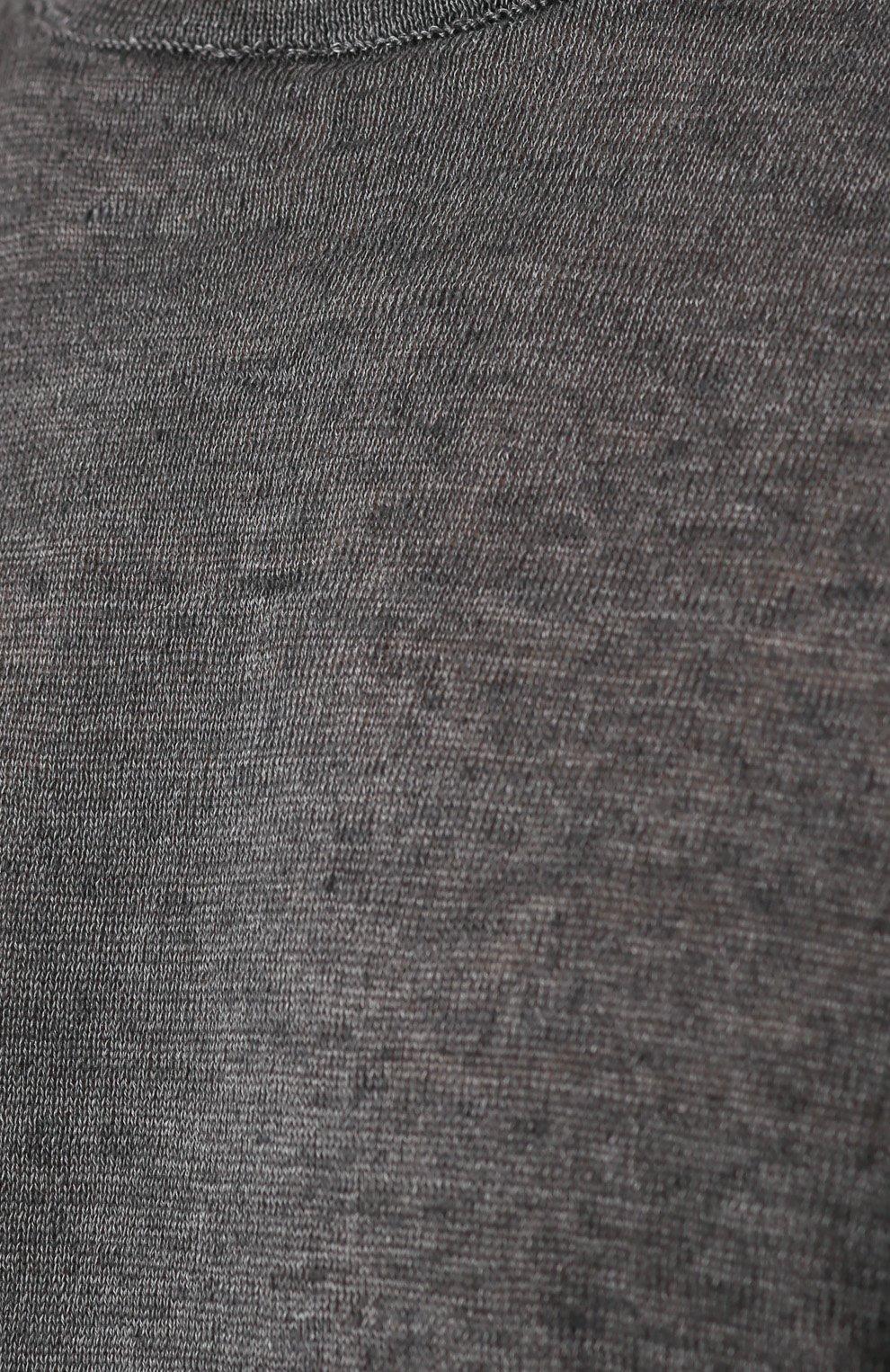 Льняной джемпер с контрастной отделкой   Фото №5