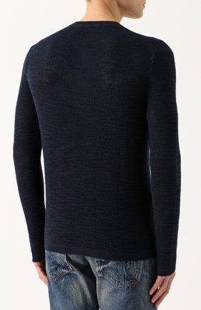 Джемпер фактурной вязки из смеси хлопка и льна | Фото №4