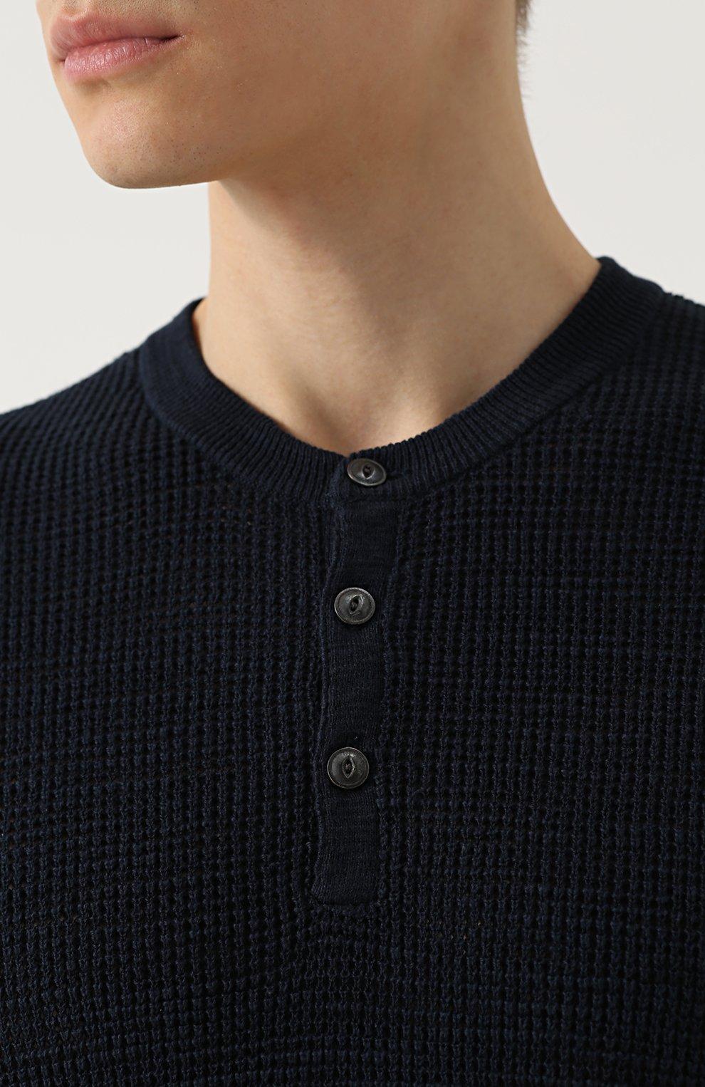 Джемпер фактурной вязки из смеси хлопка и льна | Фото №5