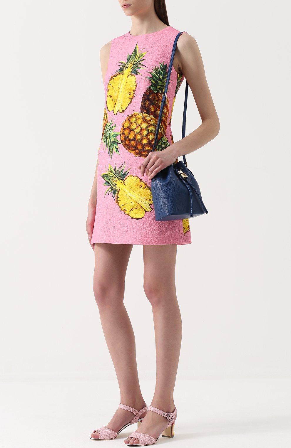 Плетеные босоножки Keira на каблуке с декором | Фото №2