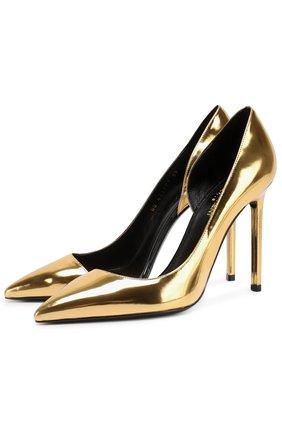Туфли Anja из металлизированной кожи на шпильке | Фото №1