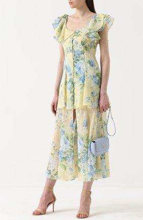 Приталенное платье с оборками и цветочным принтом Alice McCall разноцветное | Фото №1