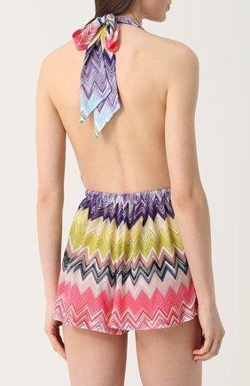 Мини-комбинезон с ярким принтом Missoni разноцветный   Фото №4