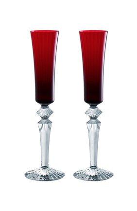 Мужского набор из 2-х фужеров для шампанского mille nuits BACCARAT красного цвета, арт. 2 810 596   Фото 1