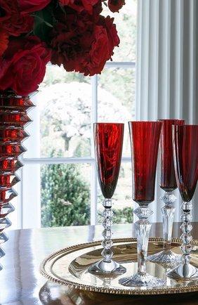 Мужского набор из 2-х фужеров для шампанского mille nuits BACCARAT красного цвета, арт. 2 810 596   Фото 2