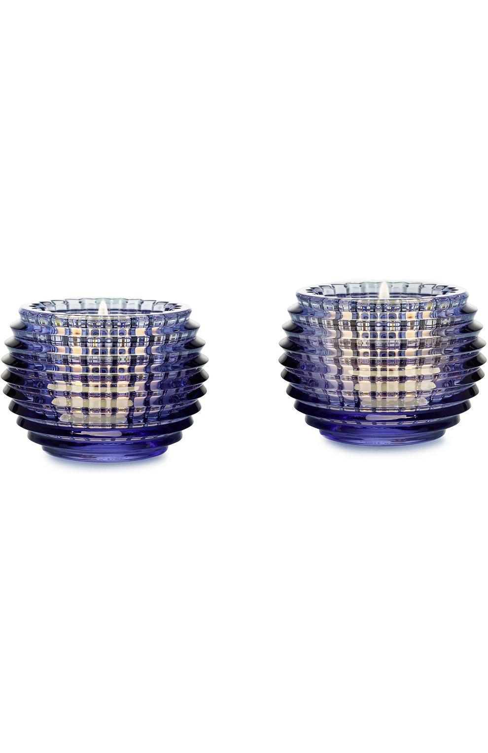 Мужского набор из 2-х подсвечников eye BACCARAT синего цвета, арт. 2 811 096 | Фото 1