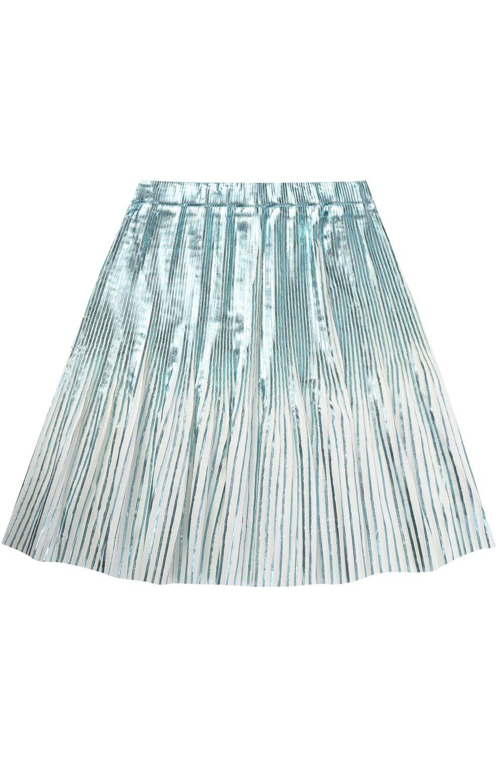 Плисированная юбка с метализированной отделкой | Фото №1