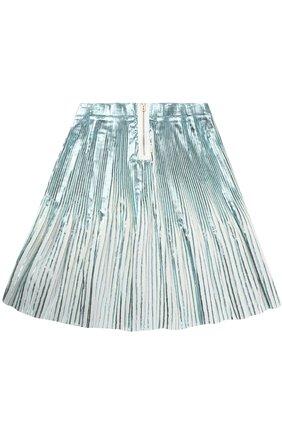 Плисированная юбка с метализированной отделкой | Фото №2