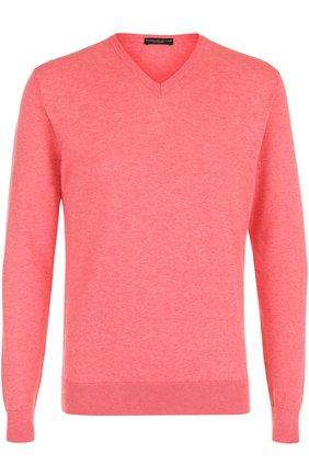 Хлопковый пуловер тонкой вязки | Фото №1