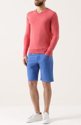 Хлопковый пуловер тонкой вязки | Фото №2