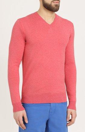 Хлопковый пуловер тонкой вязки | Фото №3