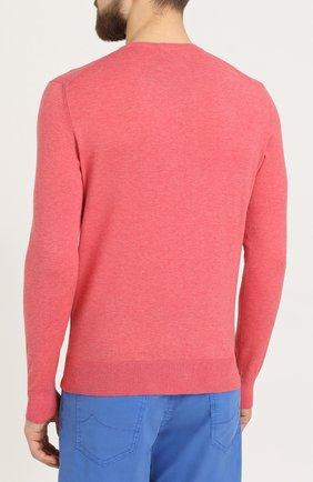 Хлопковый пуловер тонкой вязки | Фото №4
