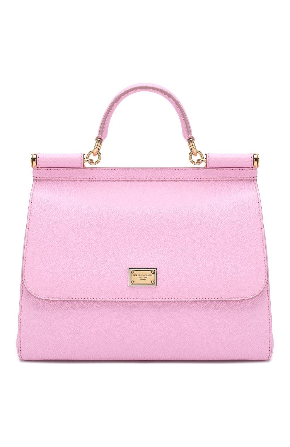 01d75e01141c Женская сумка sicily medium new DOLCE & GABBANA розовая цвета ...