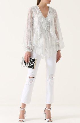 Женская кружевная полупрозрачная блуза свободного кроя Alice McCall, цвет серебряный, арт. AMT2179 в ЦУМ | Фото №1