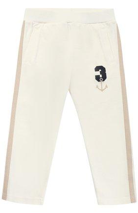 Спортивные брюки с принтом и эластичным поясом | Фото №1
