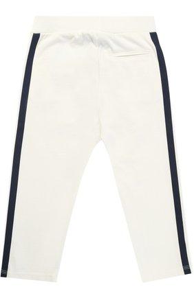 Спортивные брюки с принтом и эластичным поясом Hitch-hiker белого цвета | Фото №1