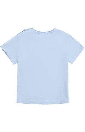 Хлопковая футболка с принтом Hitch-hiker разноцветного цвета | Фото №1