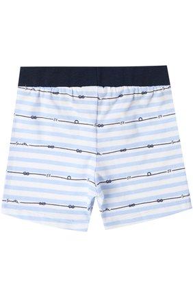 Хлопковые шорты с принтом и эластичным поясом | Фото №2